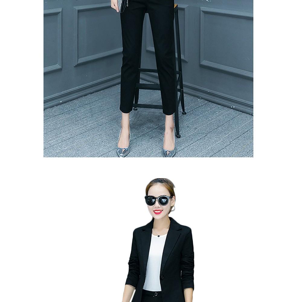 2017 w nowym stylu mody OL eleganckie kobiety pant suits formalna firm garnitur nosić pełne rękawem jednego przycisku femme blazer garnitur szczupła kurtka 19