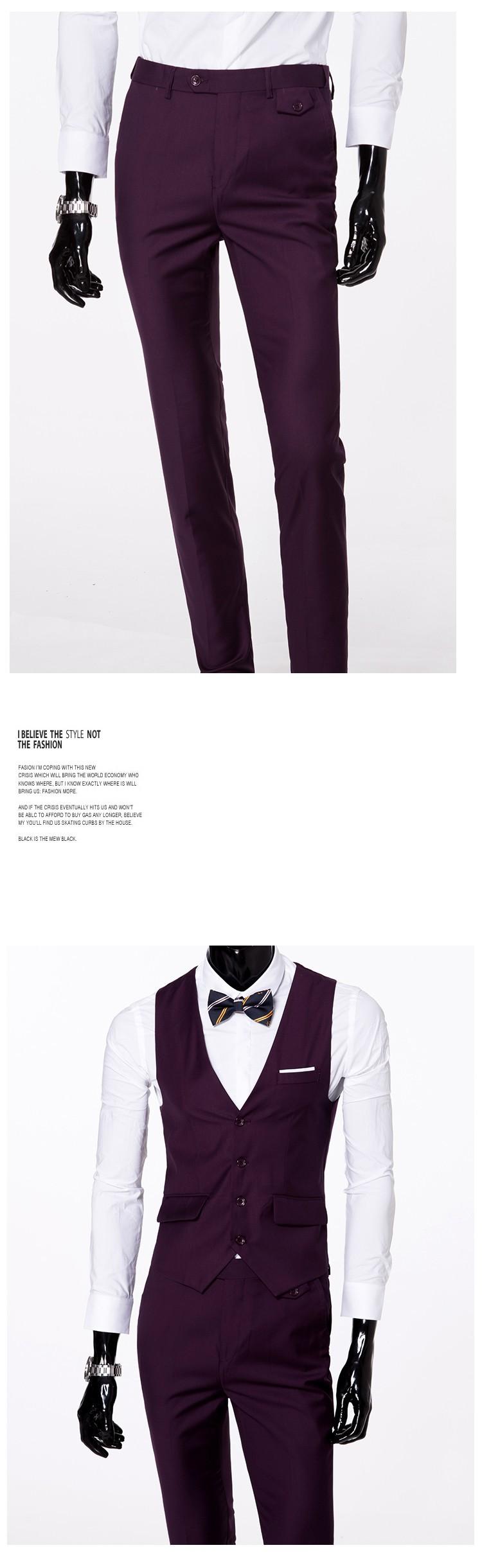 (Kurtka + kamizelka + spodnie) 2017 Nowa wiosna marka koszulka Męska slim fit Firm a trzyczęściowe Garnitury/Męskie dobrej groom dress/mężczyźni Blazers 18
