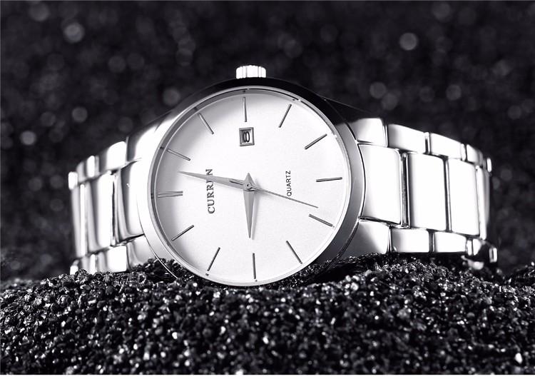 Curren 2016 Najlepsze Marki Biznesmenów Mężczyzna Luksusowy Zegarek Na Co Dzień Pełne stali Kalendarz zegarki Na Rękę zegarki kwarcowe relógio masculino 14
