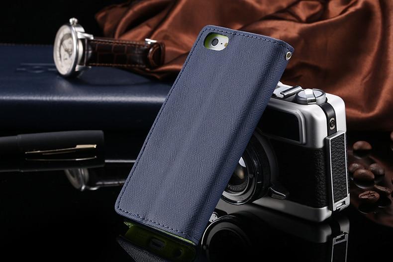 Podwójny kolor klapki skóra telefon torba case dla iphone 6 7 6 s plus 5 5S se gniazda kart + stojak kabura pokrowiec case dla iphone 7 6 6 s 59