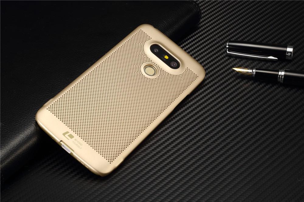 Luksusowa marka ultra thin Nowy siatka powrót pokrywy skrzynka dla LG przypadkach i pokrowce na g5 G5 oryginalne akcesoria 7