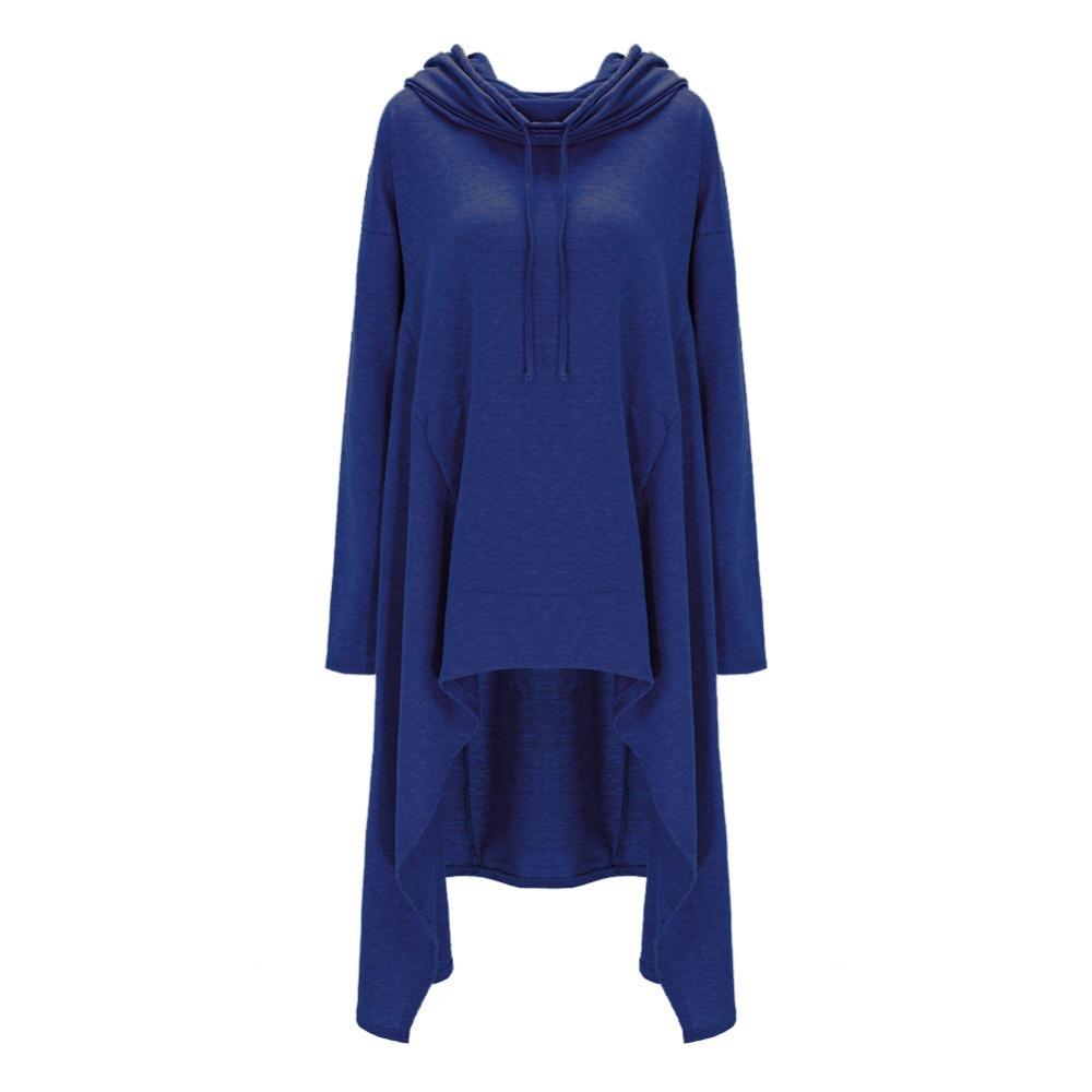 Preself Oversize Sweter Z Kapturem Bluza Kobiety Hoody Blaty Kobiet Luźna Z Długim Rękawem Płaszcz Z Kapturem Na Co Dzień Znosić Pokrywa Swetry Ubrania 16
