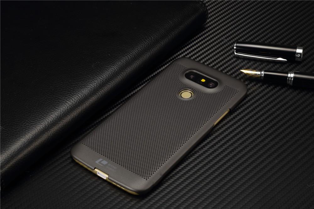 Luksusowa marka ultra thin Nowy siatka powrót pokrywy skrzynka dla LG przypadkach i pokrowce na g5 G5 oryginalne akcesoria 2
