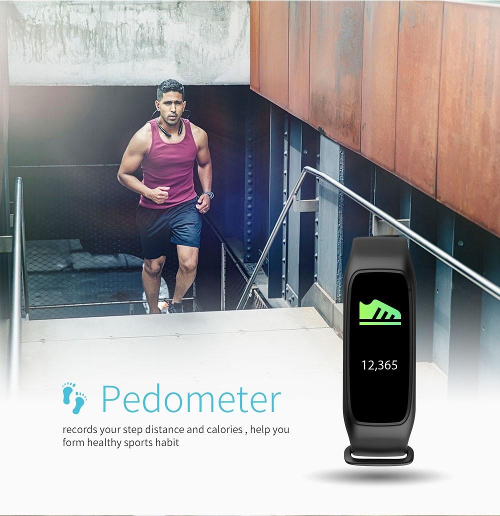 Lemfo l30t kolorowy ekran inteligentny zespół pulsometr krokomierz uśpienia fitness tracker dla andriod ios telefon 4