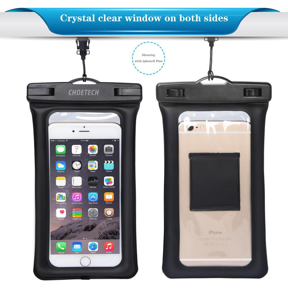 Choetech nadmuchiwane worki wodoodporne etui telefon komórkowy 30 m podwodne pralnia case pokrywa dla iphone 5 5s 6 6s plus/samsung/lg/xiaomi 9