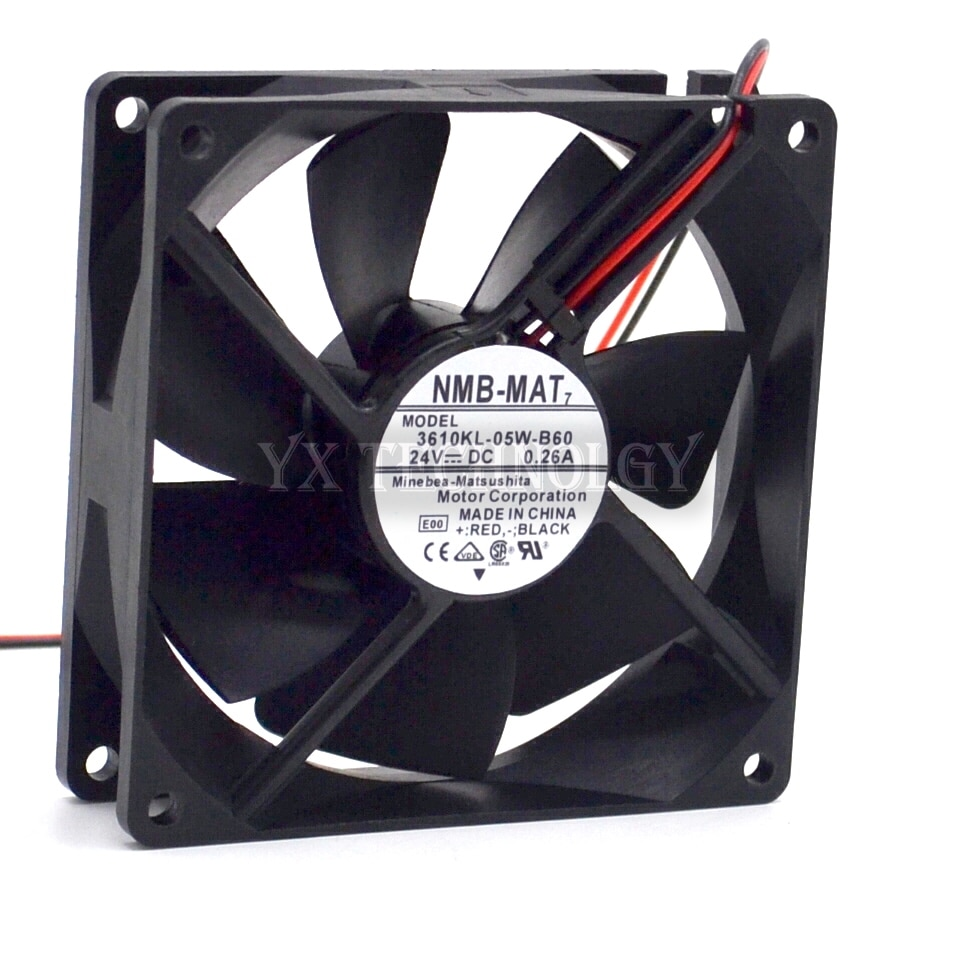 NMB New and original 9225 3610KL-05W-B60 24V 0.26A inverter dual ball bearing cooling fan 92*92*25mm