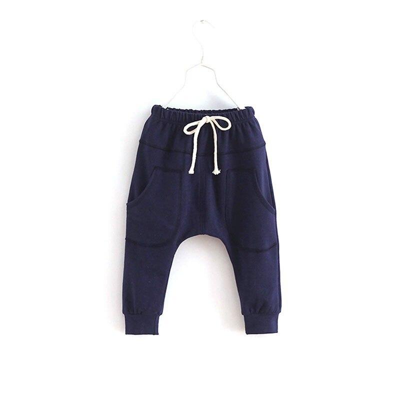Dla dzieci Chłopcy Dzieci Dziecko Miękkiej Bawełny Jesień Dorywczo Spodnie Harem Spodnie Dna 2-7Y 4