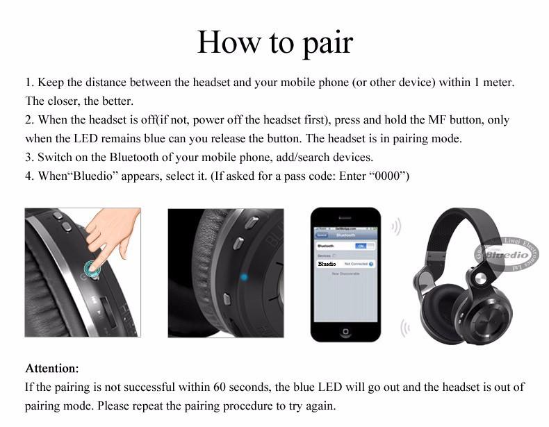 Bluedio t2s (brake fotografowania) słuchawki stereofoniczne słuchawki bezprzewodowe bluetooth 4.1 zestaw słuchawkowy bluetooth nad słuchawek dousznych 12
