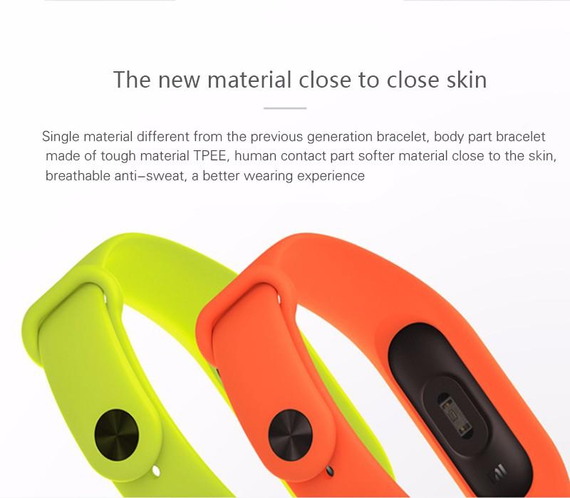 Oryginalny xiaomi mi kompania 2 miband bransoletka wistband inteligentnego tętno fitness ekran oled wyświetlacz dla iphone 7 touchpad bluetooth 25