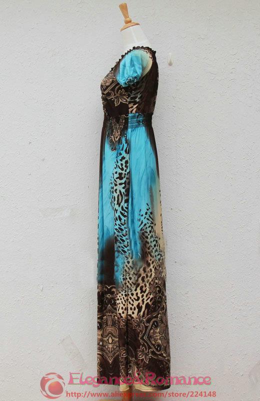2016 New Retail Wiosna I Lato Moda Na Plaży Sukienka Leopard Sukienka Czeski Mopem Duży Rozmiar Ice Silk Suknie 18