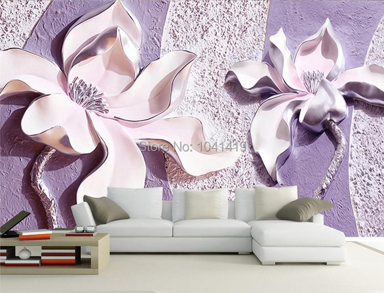 Niestandardowe Zdjęcia Tapety Stereoskopowe 3D Kwiaty Salon Sofa Tło Tapeta Nowoczesna Home Decor Pokoju Krajobraz Malowidła Ścienne 5
