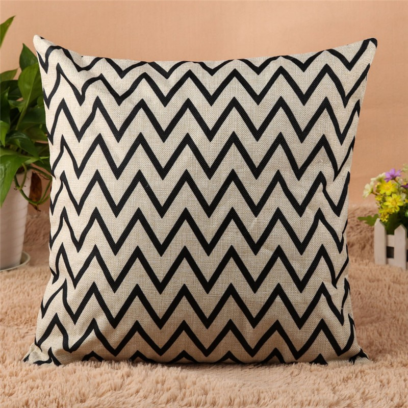 4 Types 45*45cm Vintage Fashion Cotton Linen Cushion Cover Throw Pillow Case Sofa Car Decor Cushion Cover 3