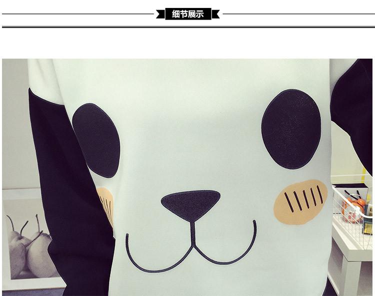 New College Wiatr Kobiety Bluzy Moda Cartoon Panda Bluzy Dorywczo Drukowane Mieszane Kolor Harajuku Dresy Kobiet Sudaderas 8