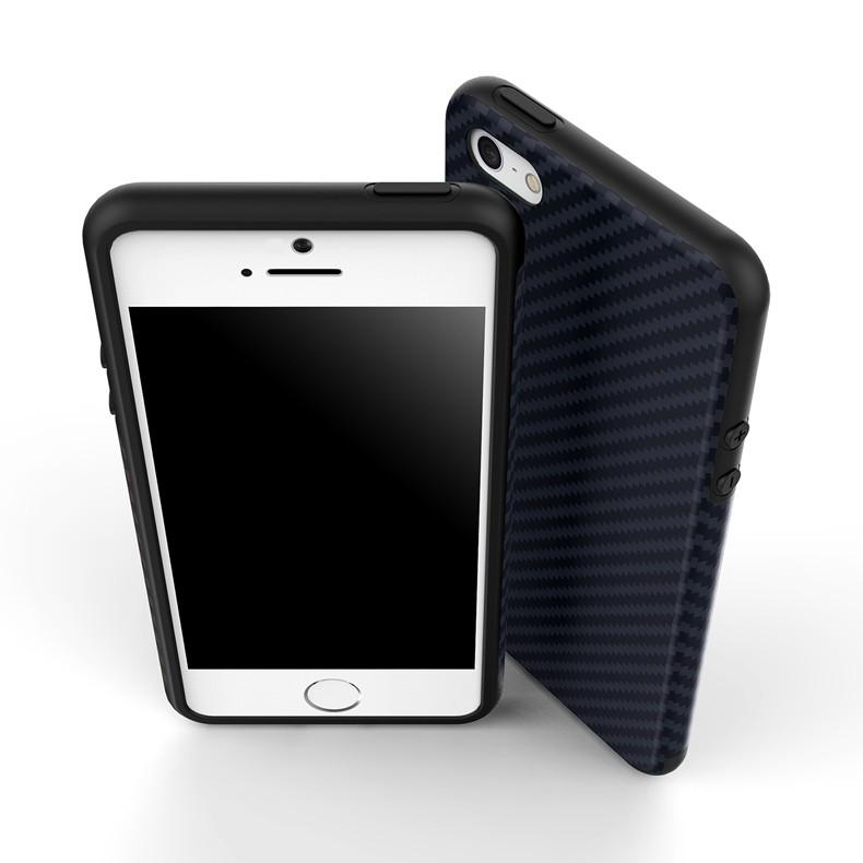 Luksusowe Elegent Wysokiej Jakości Włókna Węglowego Miękki Futerał Dla iPhone 5 5S SE Skórzana Skóry Tekstury Opon 3D Obrońca Pokrywa Dla iPhone SE 16