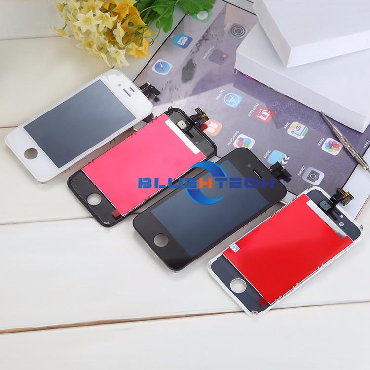 Dla iphone 4s ekran wyświetlacz lcd ekran dotykowy digitizer zgromadzenie części zamienne telefon lcd lcd do telefonów komórkowych/czarny biały 6