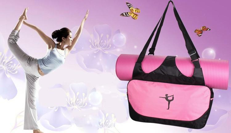 Mata yoga bag wodoodporny plecak na ramię messenger torba sportowa dla kobiet fitness ubrania siłownia duffel torba (nie yoga mat) 1