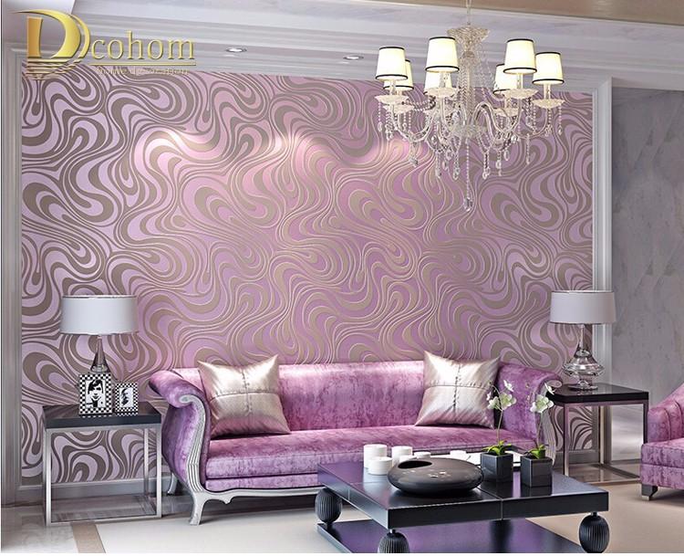 Wysokiej jakości 0.7 m * 8.4 m nowoczesny luksus 3d tapety rolki mural papel de parede uciekają na paski ściany papier 5 kolor r136 26