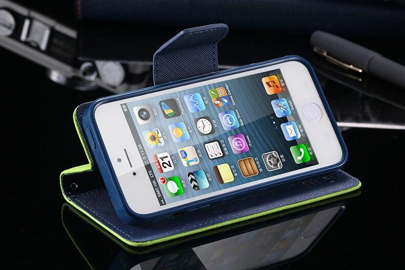 Podwójny kolor klapki skóra telefon torba case dla iphone 6 7 6 s plus 5 5S se gniazda kart + stojak kabura pokrowiec case dla iphone 7 6 6 s 5