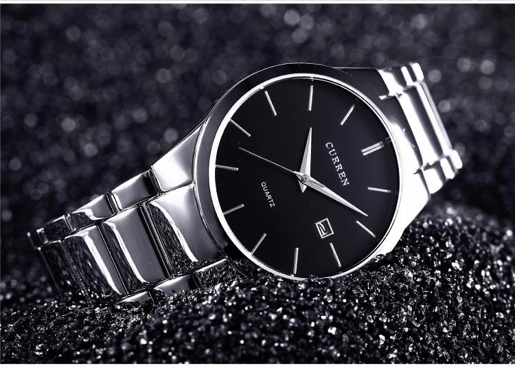 Curren 2016 Najlepsze Marki Biznesmenów Mężczyzna Luksusowy Zegarek Na Co Dzień Pełne stali Kalendarz zegarki Na Rękę zegarki kwarcowe relógio masculino 16