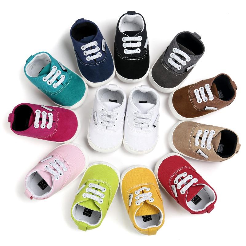 Wiosna Jesień Dziecko Noworodka Dziewczynka Chłopiec Miękkie Podeszwy antypoślizgowe Maluch Prewalker Niemowląt Sneaker Buty Na Co Dzień 1