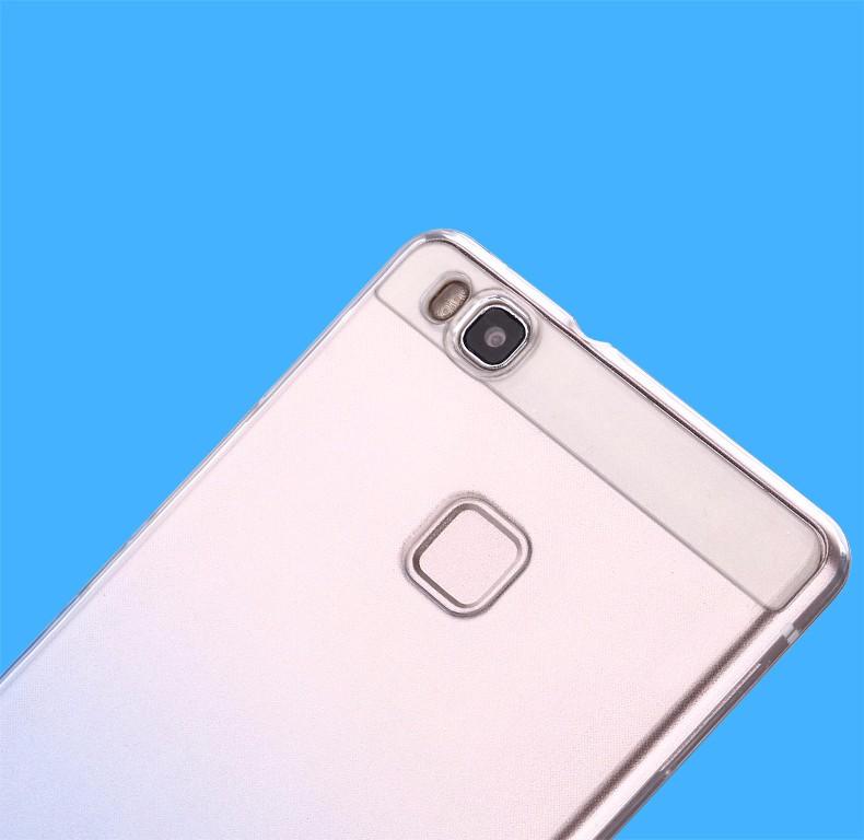 Ultra-cienki przezroczysty miękka tpu case dla huawei p8 p9 plus p8 lite krzemu gradientu telefon ochronna pokrywa dla huawei p9 Shell 4