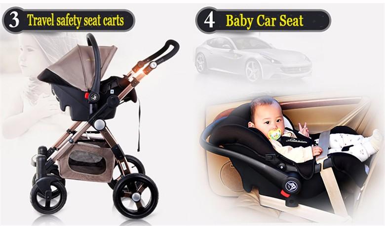 GoldenBaby wózka dziecięcego 2 w 1 3 w 1 szok składany składany newborn baby wózek Rosja darmowa wysyłka 4
