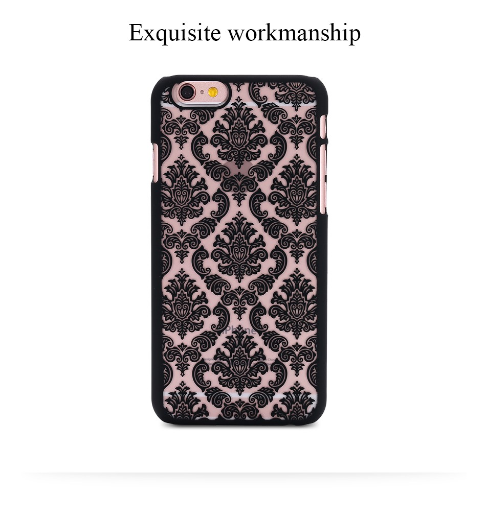 Kisscase retro elegancki wzór case dla iphone 6 6s plus samsung galaxy s7 edge s6 krawędzi uwaga 4 5 samsung e5 e7 a3 a5 a7 a8 j5 j7 5
