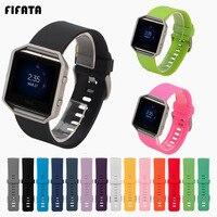 FIFATA 스마트 워치 밴드 Fitbit Blaze 스포츠 스트랩 실리콘 팔찌 Blaze Smartwatch 교체 팔찌 손목 밴드