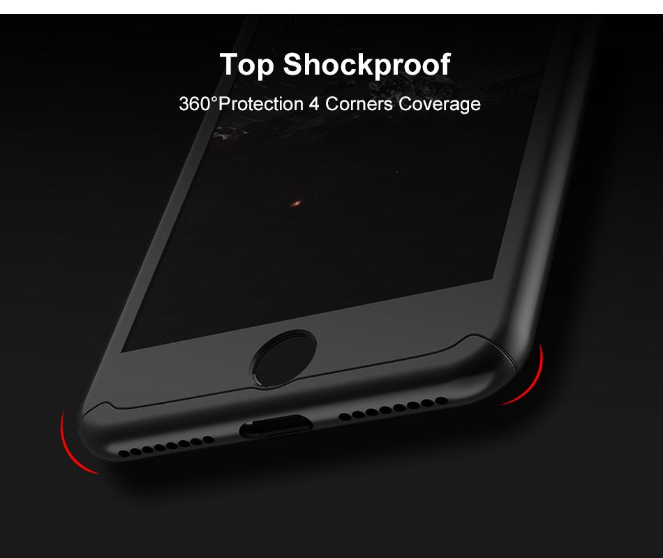 Floveme 360 pełna ochronne twarde etui na telefony iphone 6 6s plus 7 7 plus coque luksusowe odporny na wstrząsy case + ekran szkła Protector 6