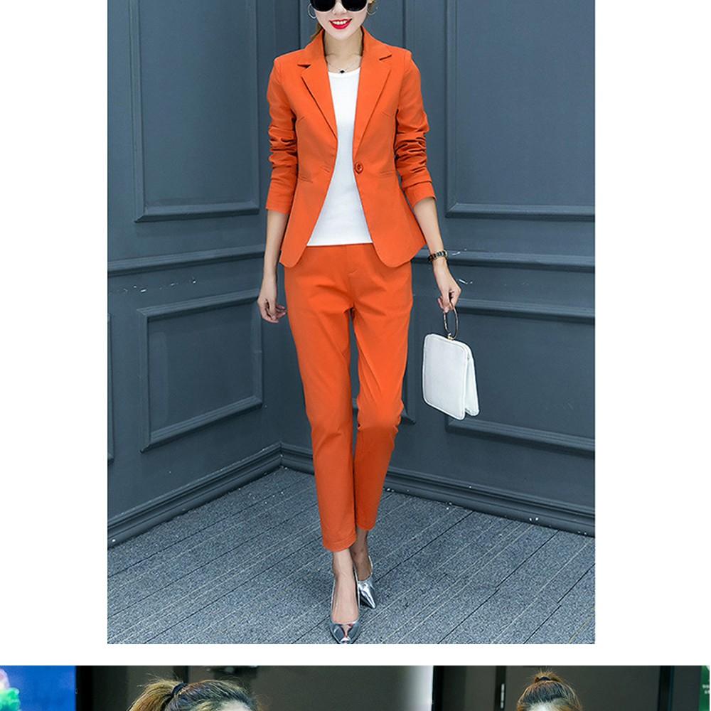 2017 w nowym stylu mody OL eleganckie kobiety pant suits formalna firm garnitur nosić pełne rękawem jednego przycisku femme blazer garnitur szczupła kurtka 5