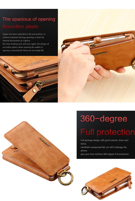 Floveme oryginalny retro skóra telefon case for iphone 6s 6 4.7 dla iphone6s iphone 6s przypadki metalowy pierścień coque pokrowce na iphone 7 8