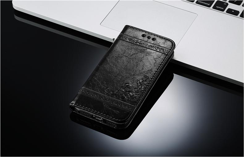 Skórzane etui z klapką telefon case for iphone 7 plus 6 s plus 5S 4S samsung galaxy S3 S4 S5 S6 S7 S8 Krawędzi Plus Uwaga 3 4 5 Karty Telefon torby 13