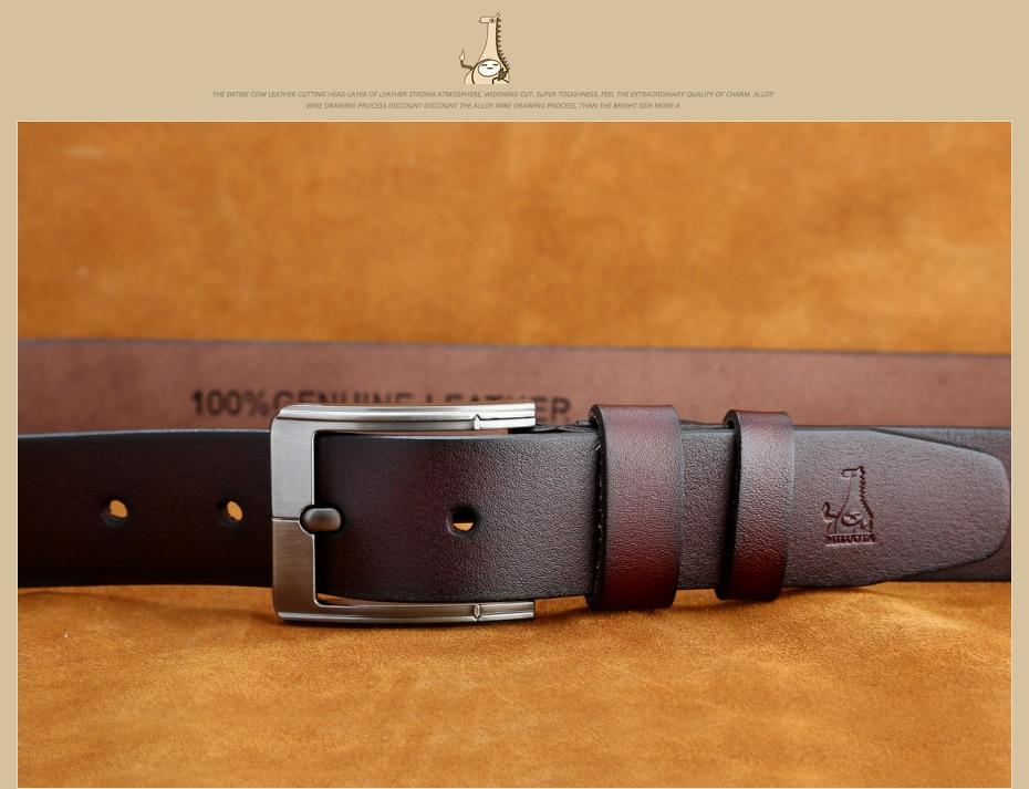 [Miluota] pasy designer mężczyźni wysokiej jakości prawdziwy skórzany pas dla mężczyzn luksusowe ceinture homme military style 130 cm mu012 23