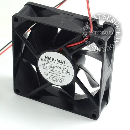 NMB 8025 DC48V 0.09A 3110KL-07W-B50 inverter cooling fan 95g
