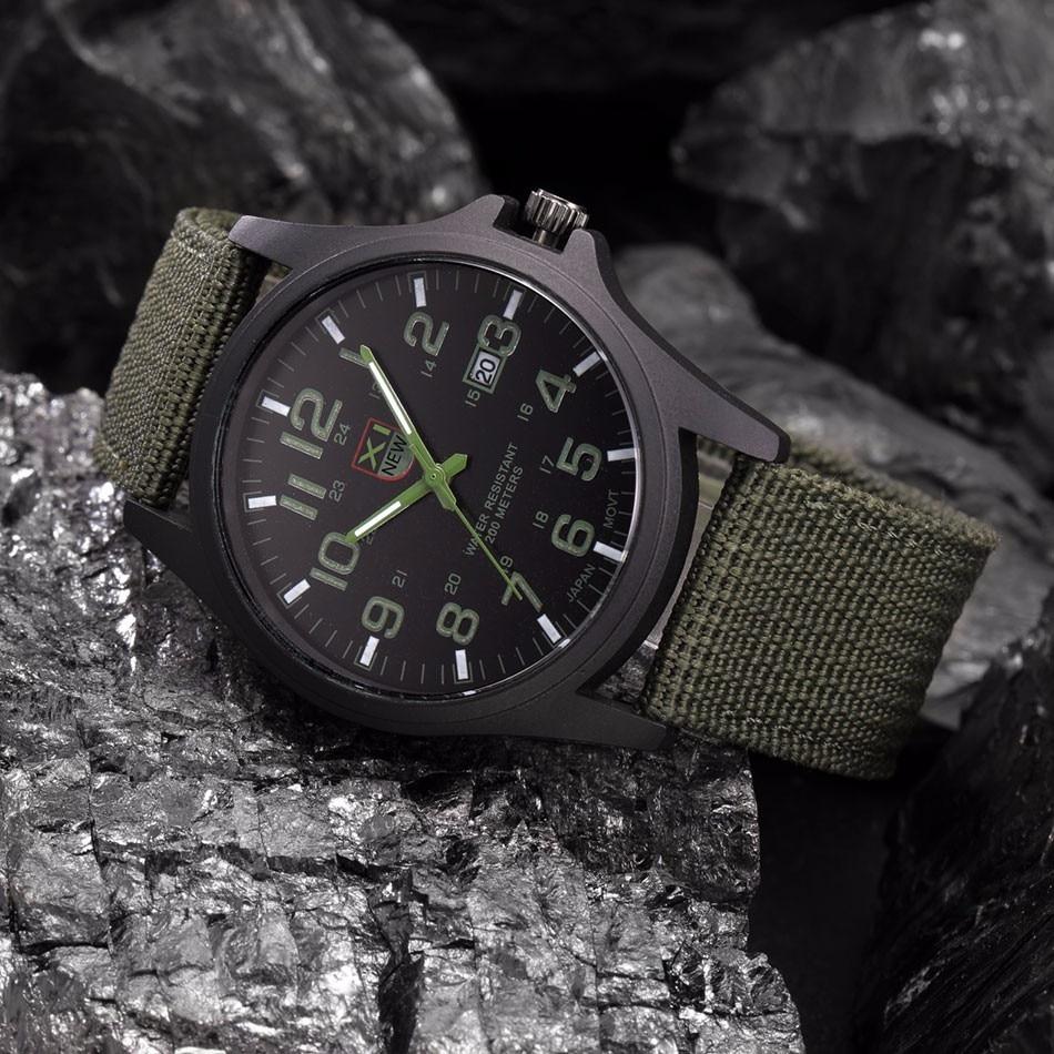 Fantastyczny xinew luksusowe boisko sportowe mężczyzna zegarka kalendarz data mens steel analogowe kwarcowy zegarek wojskowy erkek relogioi kol saat 18