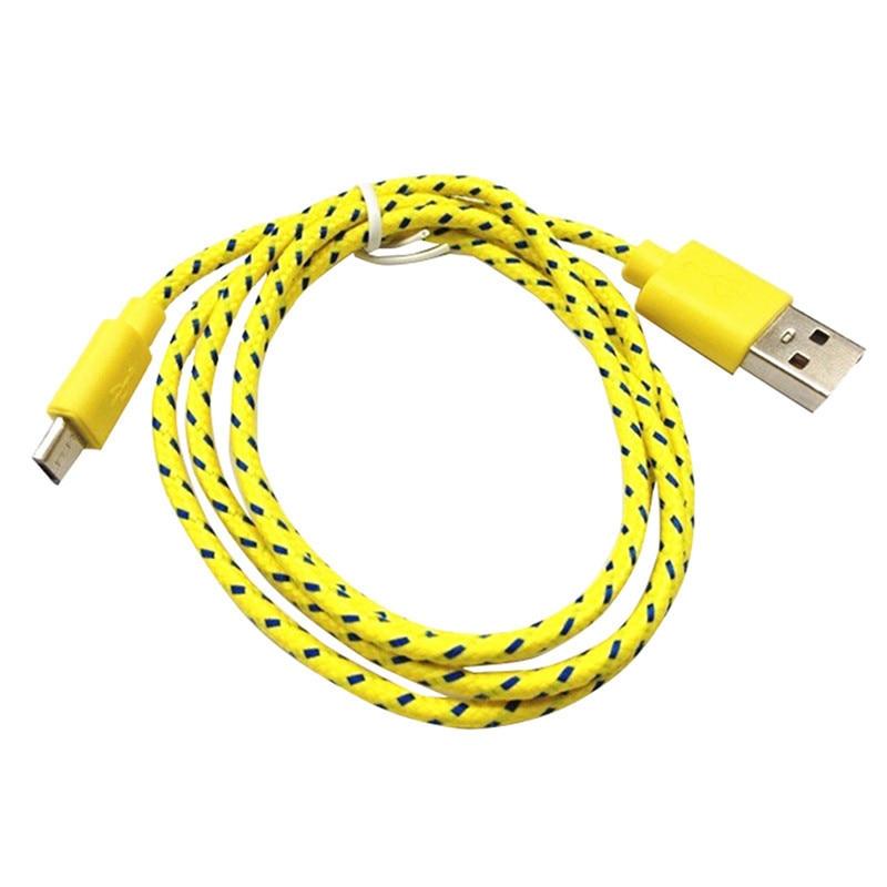1 m 2 m 3 m nylon pleciona tkanina micro usb cable ładowarka danych kabel usb do synchronizacji przewód do samsung galaxy htc android smart phone 1 sztuk 11