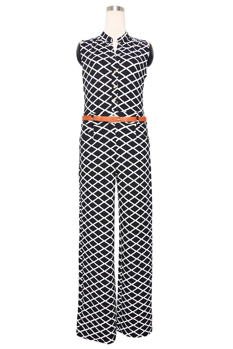 Zkess długie spodnie kombinezon kobiety pajacyki bez rękawów xxl v-neck 2017 pas stałe sexy klub nocny eleganckie szczupła kombinezony kombinezony 15