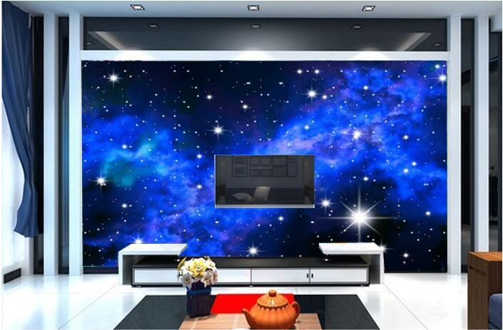 Niestandardowe zdjęcia tapety KTV 3D 5-gwiazdkowych Hoteli sen salon sypialnia sufit jasny sufit gwiazdy papier fototapetę malarstwo ścienne 10