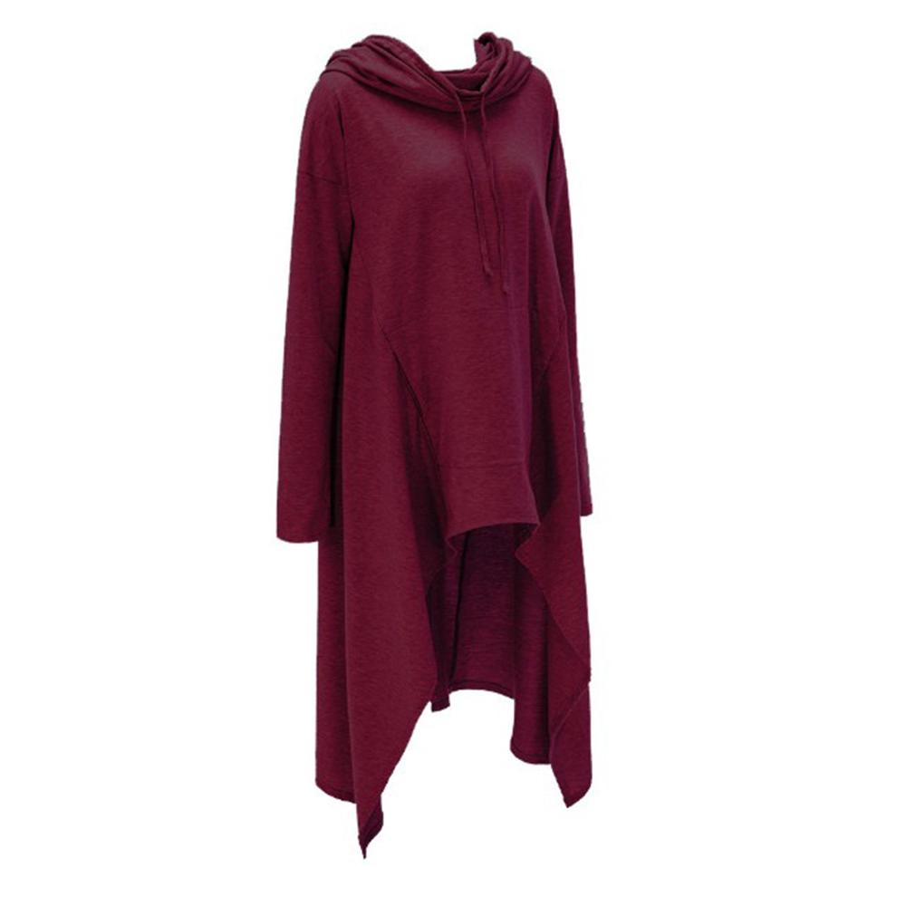 Preself Oversize Sweter Z Kapturem Bluza Kobiety Hoody Blaty Kobiet Luźna Z Długim Rękawem Płaszcz Z Kapturem Na Co Dzień Znosić Pokrywa Swetry Ubrania 9