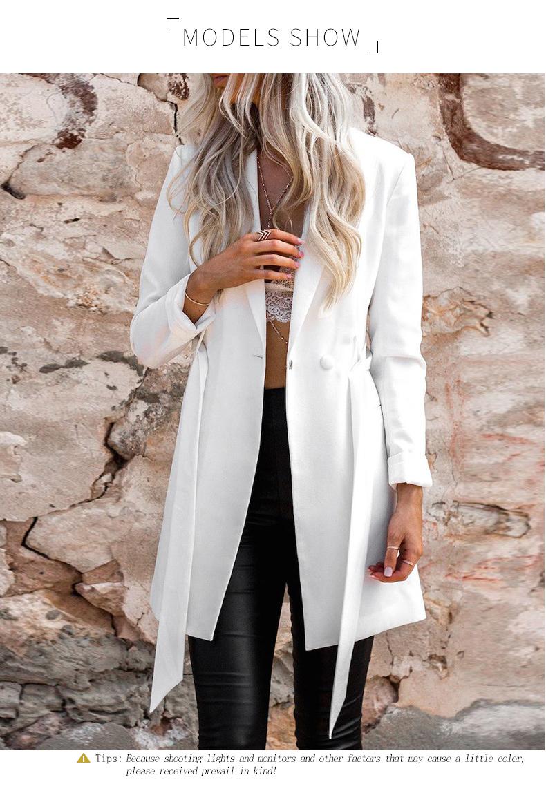 RichLuLu Bialy Blazer Kobiety Odzież Belt Biuro Panie Długi Rękaw Elegancka Kurtka Kobiet Głęboki Dekolt Blazer Cardigans 13