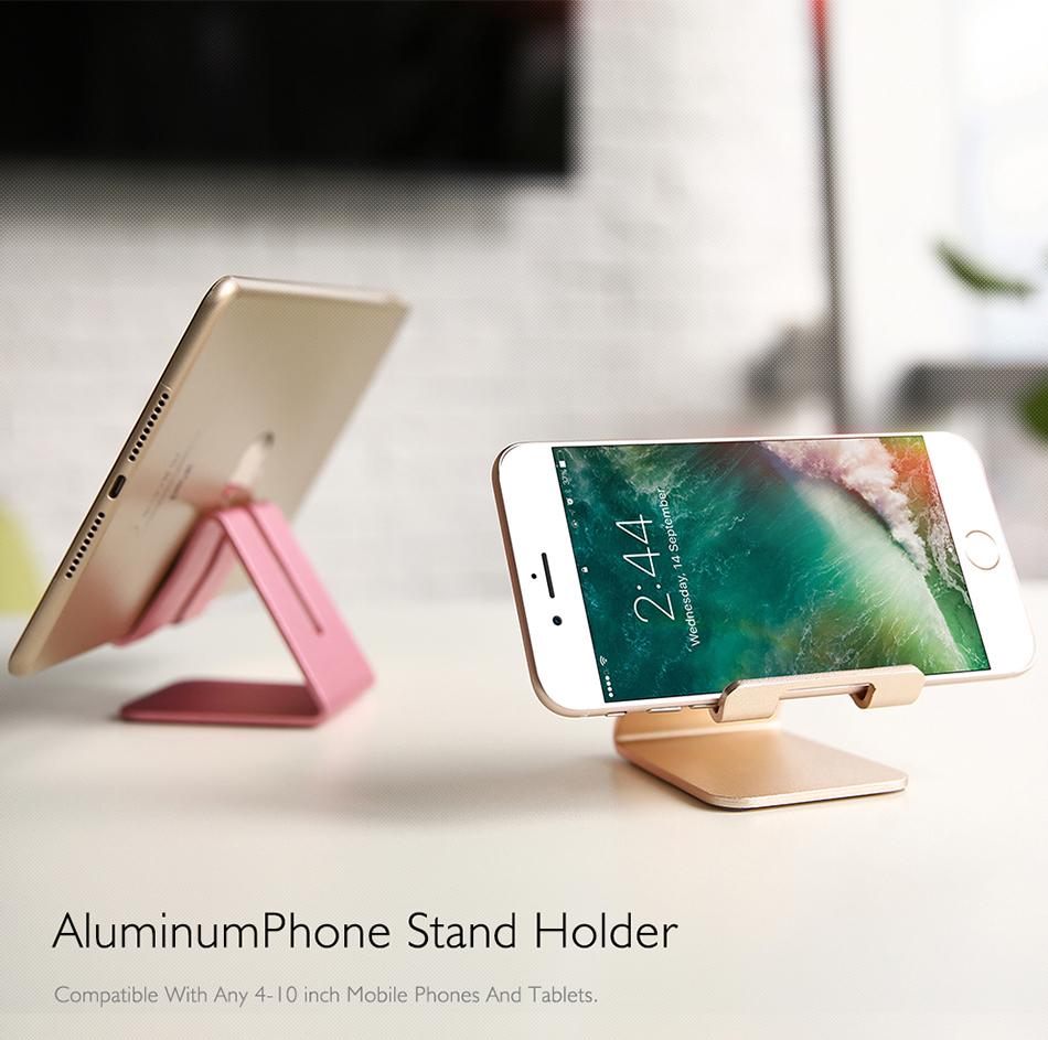 RAXFLY Uniwersalny Aluminium Metal Telefon Uchwyt Stojak Na iPhone 6 7 Plus Samsung Tabletka S8 Biurko Stojak Uchwyt Do Telefonu Inteligentnego Zegarka 6