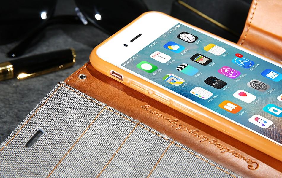 Kisscase stań portfel przerzuć przypadki dla iphone 6 6s 7 5 5S mody hit kolor slot kart skóra pokrywa dla iphone 7 6 s plus z logo 22