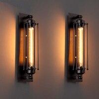 빈티지 벽 램프 레트로 산업 Fengtieyi 벽 램프 Led 전구 거울 허영 빛 Sconce 램프 거실 로프트 장식 Jusheng