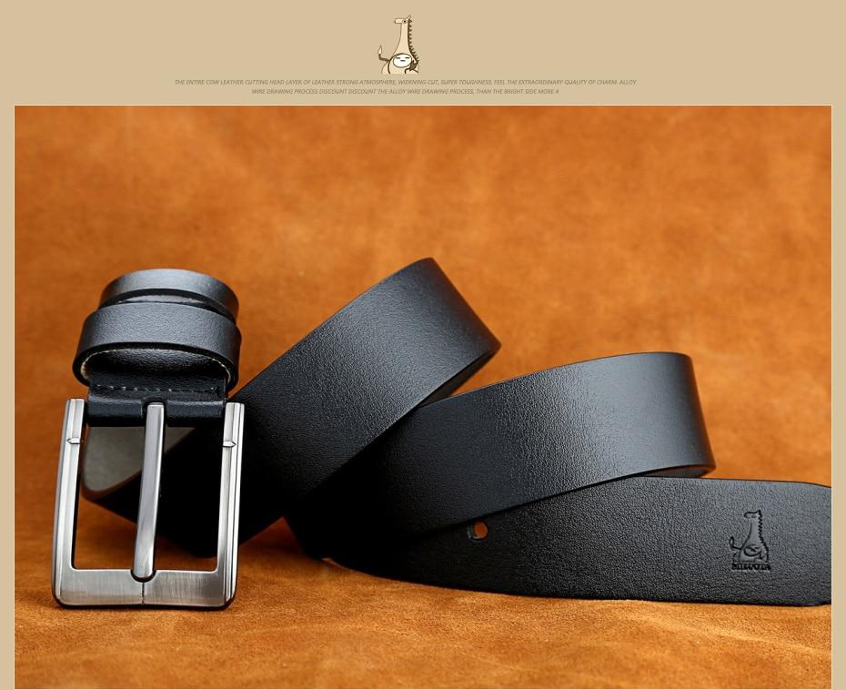 [Miluota] pasy designer mężczyźni wysokiej jakości prawdziwy skórzany pas dla mężczyzn luksusowe ceinture homme military style 130 cm mu012 25