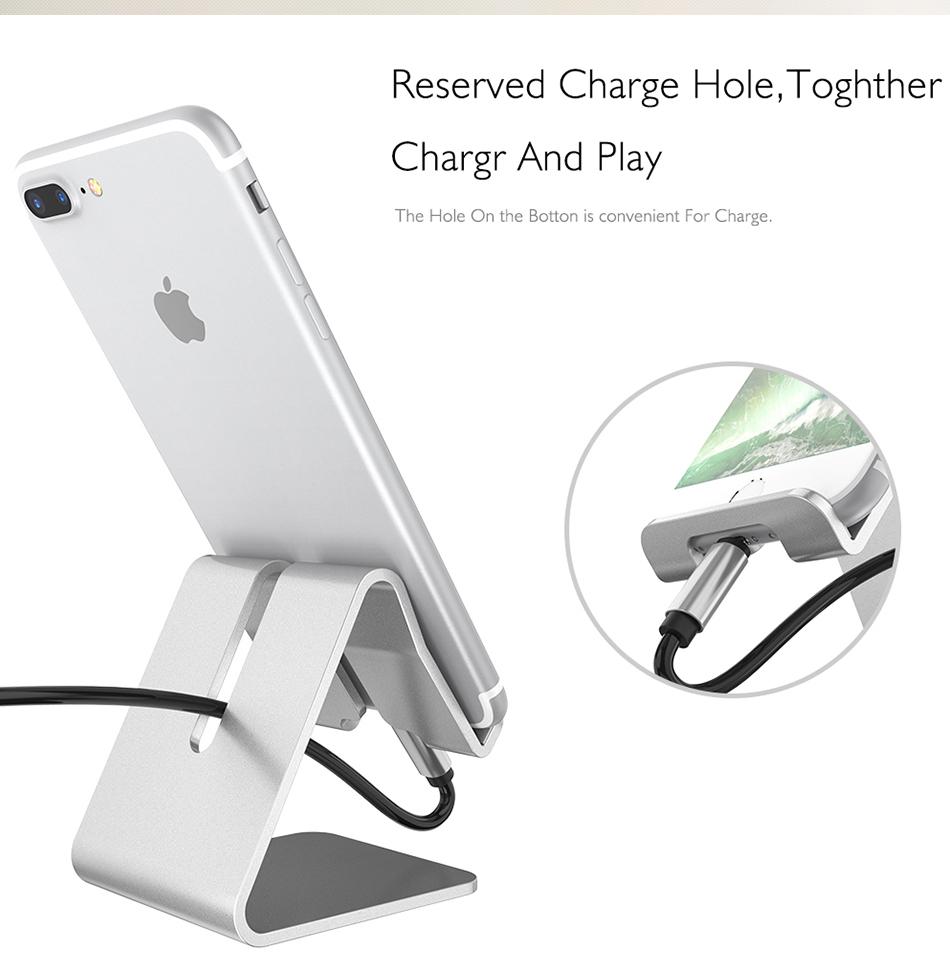 RAXFLY Uniwersalny Aluminium Metal Telefon Uchwyt Stojak Na iPhone 6 7 Plus Samsung Tabletka S8 Biurko Stojak Uchwyt Do Telefonu Inteligentnego Zegarka 7