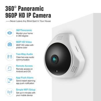 360 Degree Wireless Panoramic Camera MINI 960P Network Wi-fi Fisheye