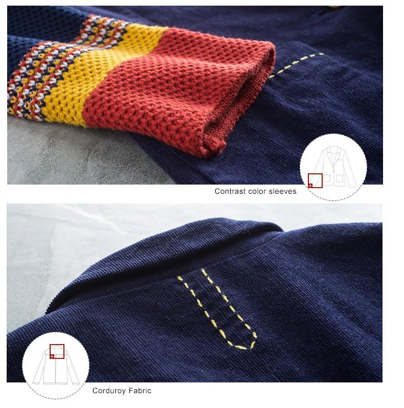 Toyouth kobiet jeden przycisk marynarka krótki projekt bawełny z długim rękawem szczupła marynarka kolor bloku patchwork kobiety blazers 11