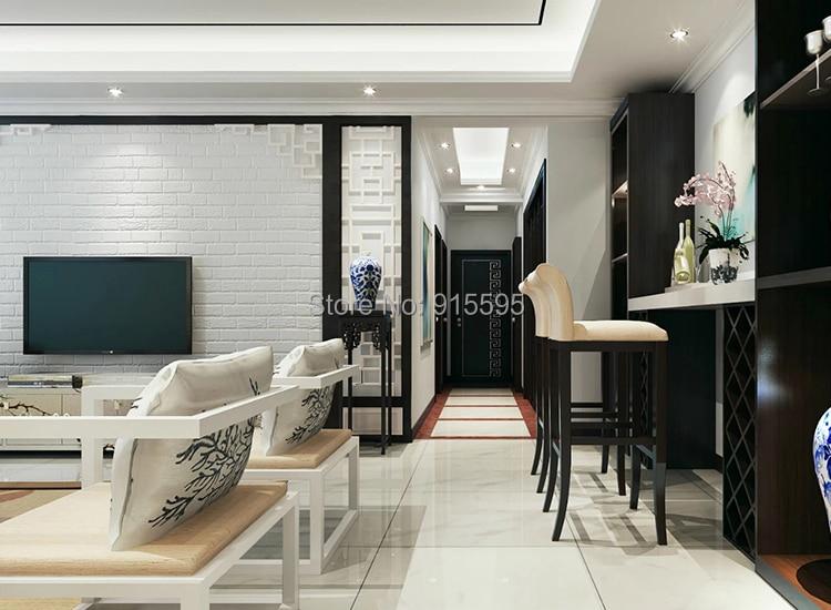 Off Biały 3D Nowoczesny Design Cegła Tapety Rolki Winylu Oblicowywanie Ścian Tapety Do Salonu Jadalni Sklep Tle 6