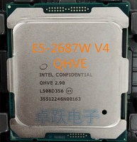 Original Intel Xeon ES Version E5 2687WV4 QHVE 2,90 GHz 12-Core 30MB SmartCache E5 2687W V4 LGA2011-3 160W Freies Verschiffen