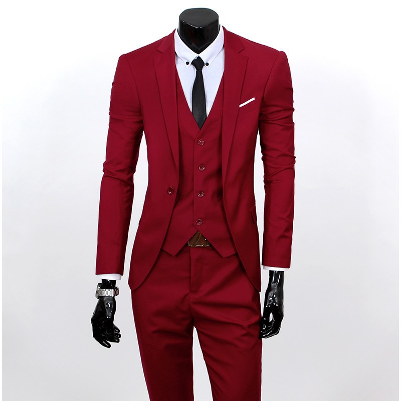 (Kurtka + kamizelka + spodnie) 2017 Nowa wiosna marka koszulka Męska slim fit Firm a trzyczęściowe Garnitury/Męskie dobrej groom dress/mężczyźni Blazers 21